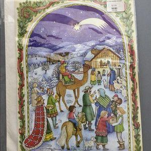 Vintage Glitter Holiday Advent Calendar NEW